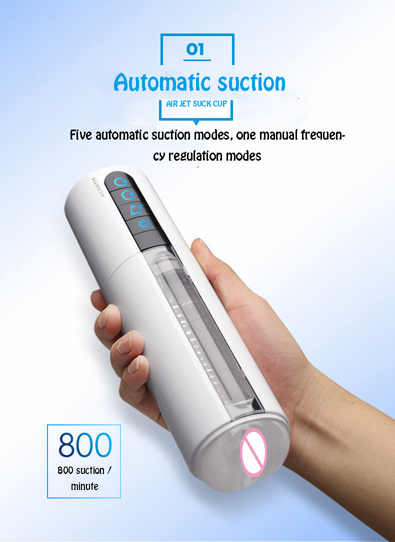 Intelligent sucking machine fake vagina pussy hands free male masturbator male automatic masturbator male sex product toy