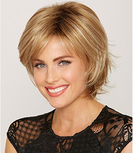 "Synthetic Bobs Brown Wavy 9"" Medium Wig"