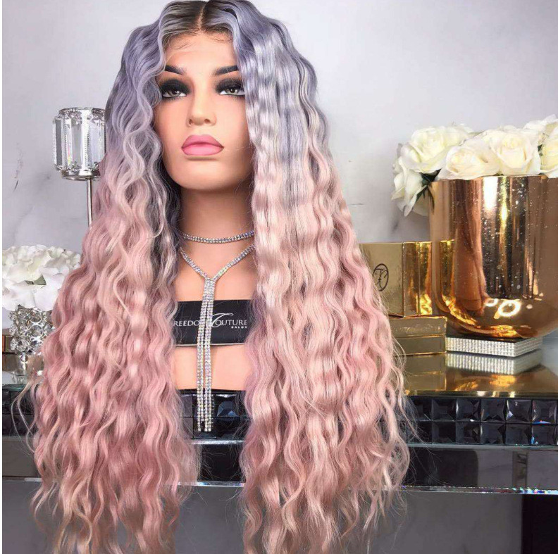 Amazing 22 Inch long Curly Style Lace Front Ombre Wigs