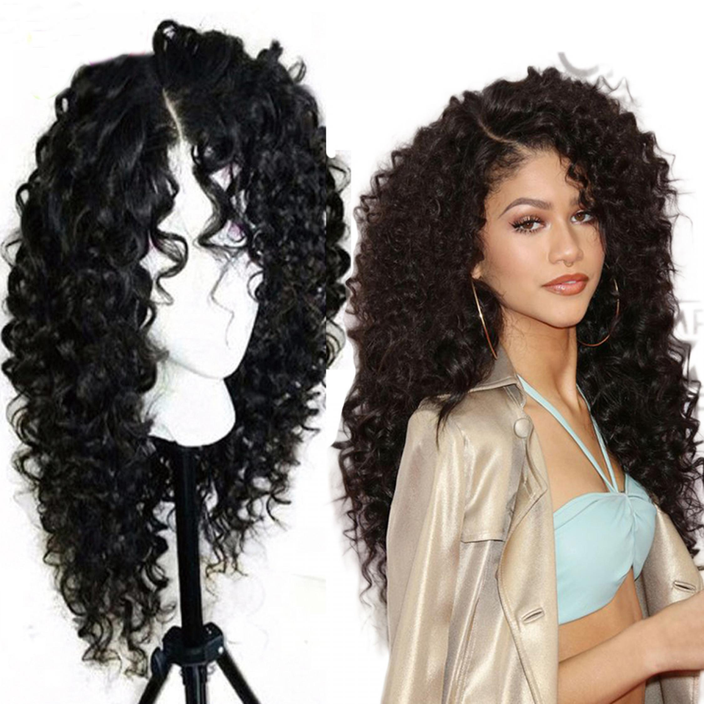 150 Density Beautiful Curly Lace Front Wig Synthetic | 150
