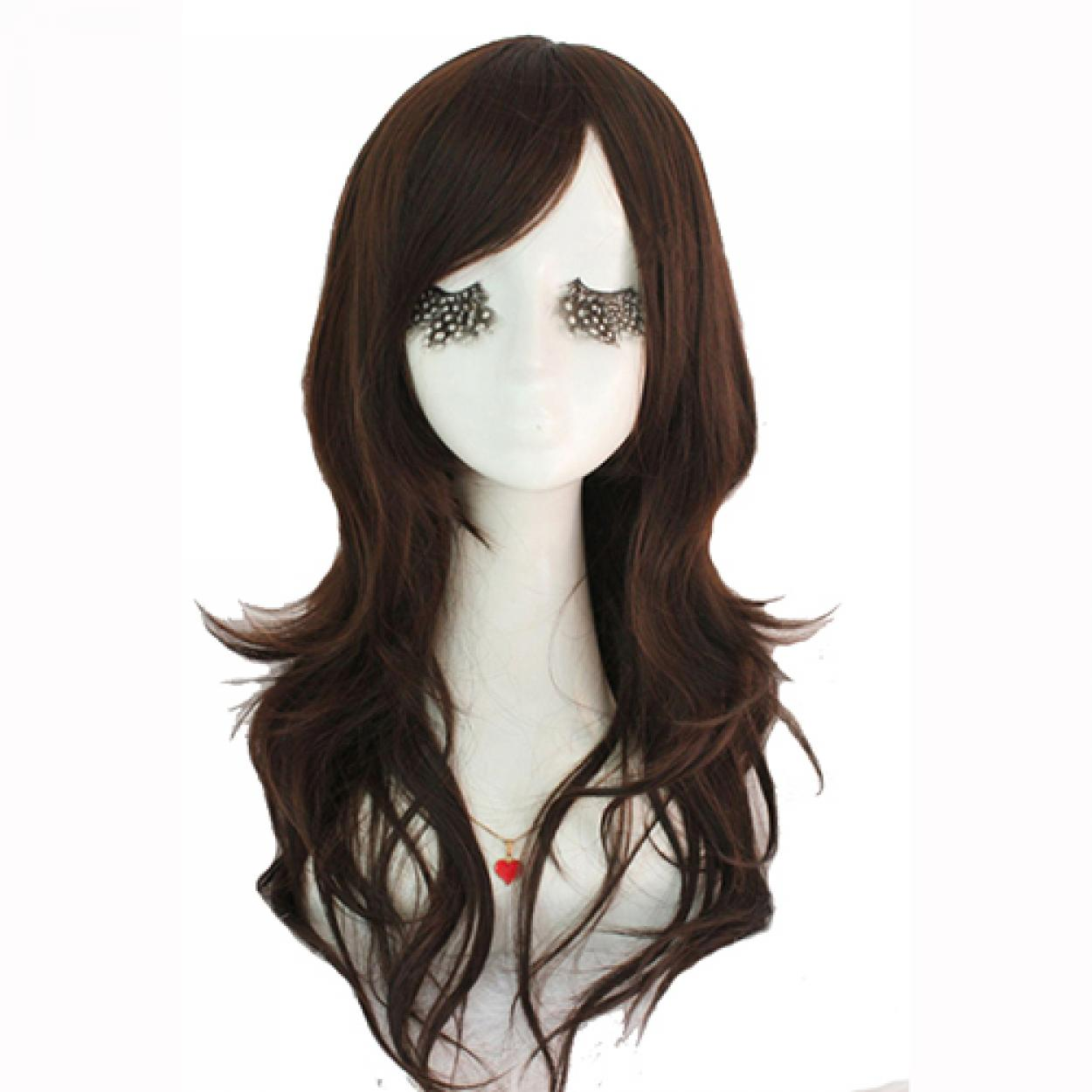 Fashion Women Cute Lady Wig 60cm/24inches Synthetic Wigs Hair Mixed Beige