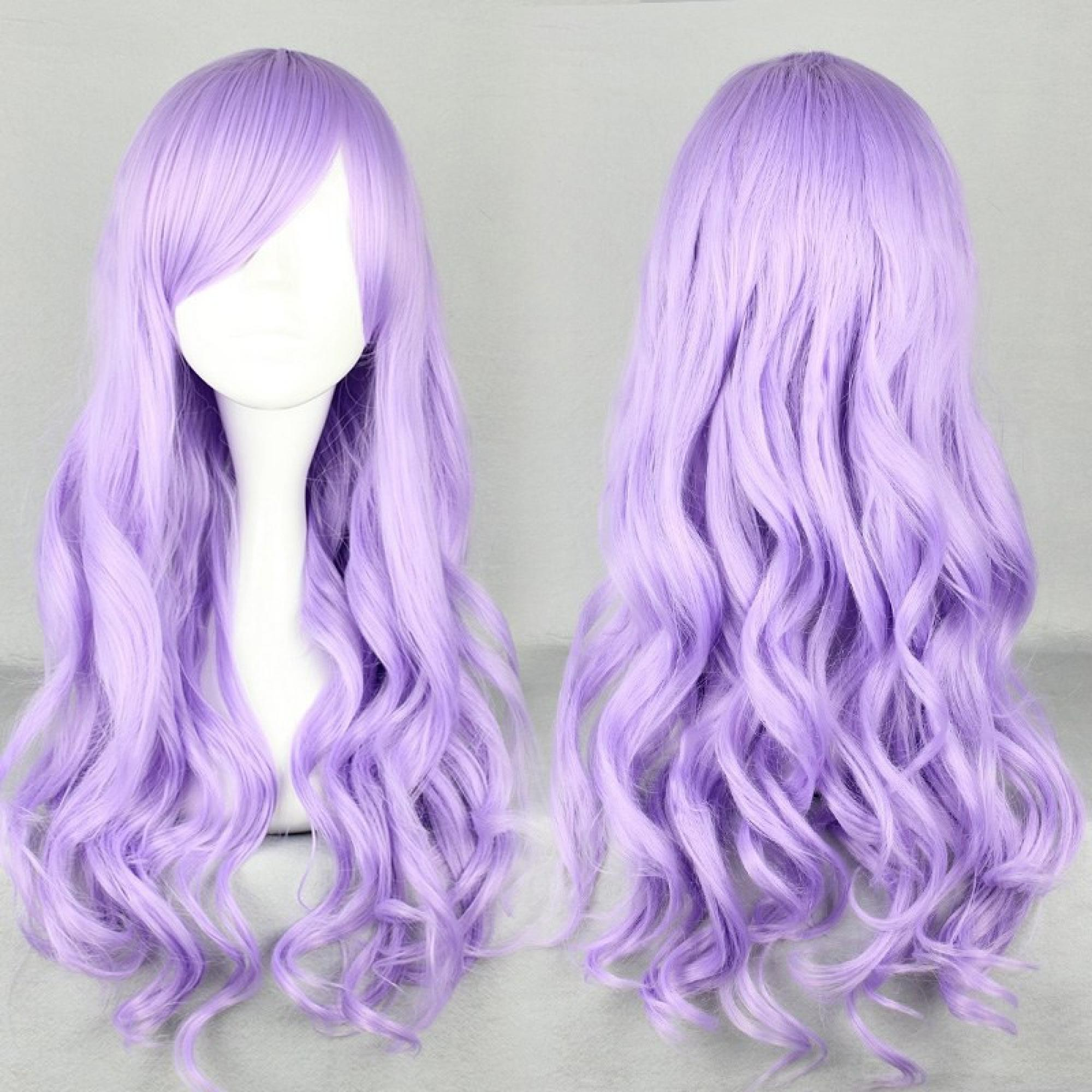 Fashion 70cm Long Wave Classical Purple Synthetic High Quality Women Part
