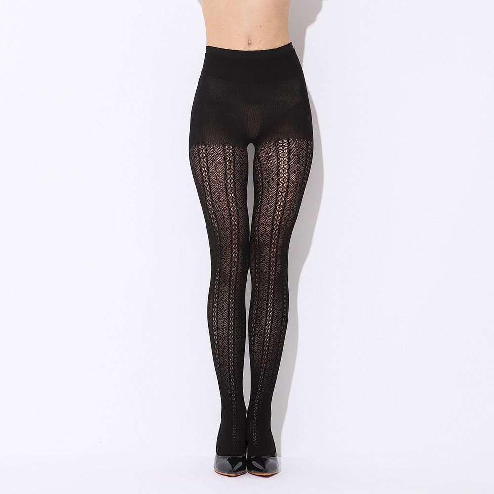 Sexy black silk stockings pantyhose thickened taste ...