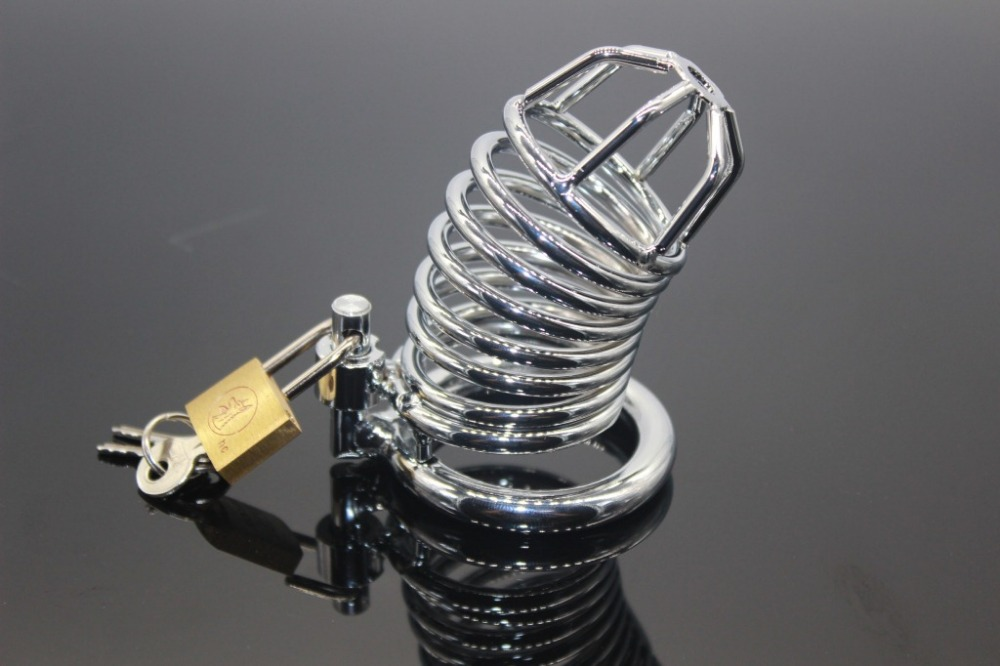 Hot Metal Stainless Steel Male Chastity Belt Cock Cage With arc-shaped Cock Ring